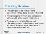 practicing librarians1