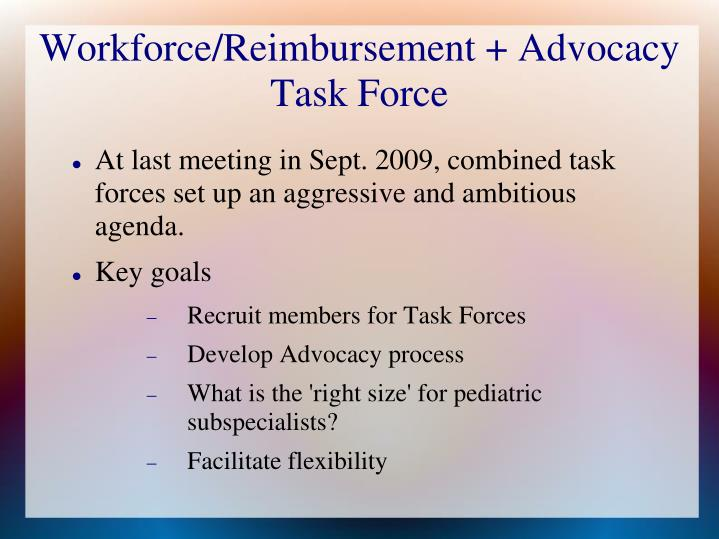 workforce reimbursement advocacy task force n.