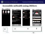 accessible mhealth using imhere
