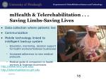 mhealth telerehabilitation saving limbs saving lives