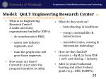 model qolt engineering research center we are the only center working on quality of life technology