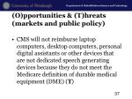 o pportunities t hreats markets and public policy