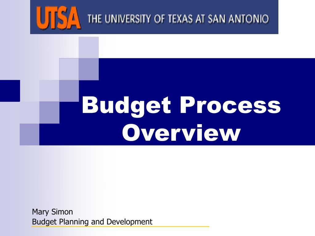 budget process overview l.