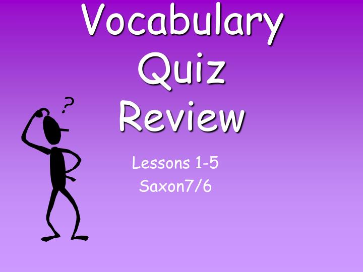 vocabulary quiz review n.