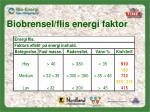 biobrensel flis energi faktor