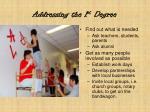 addressing the 1 st degree
