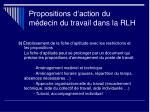 propositions d action du m decin du travail dans la rlh1