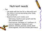 nutrient needs1