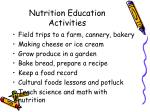 nutrition education activities