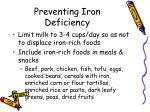 preventing iron deficiency