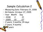 sample calculation 2