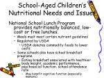 school aged children s nutritional needs and issues3