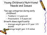 young children s nutritional needs and issues
