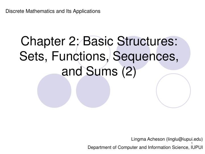 chapter 2 basic structures sets functions sequences and sums 2 n.