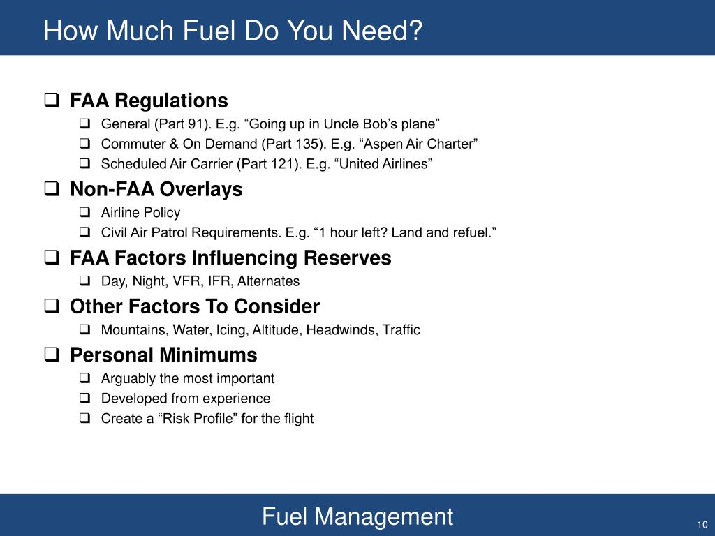 How Much Fuel Do You Need?
