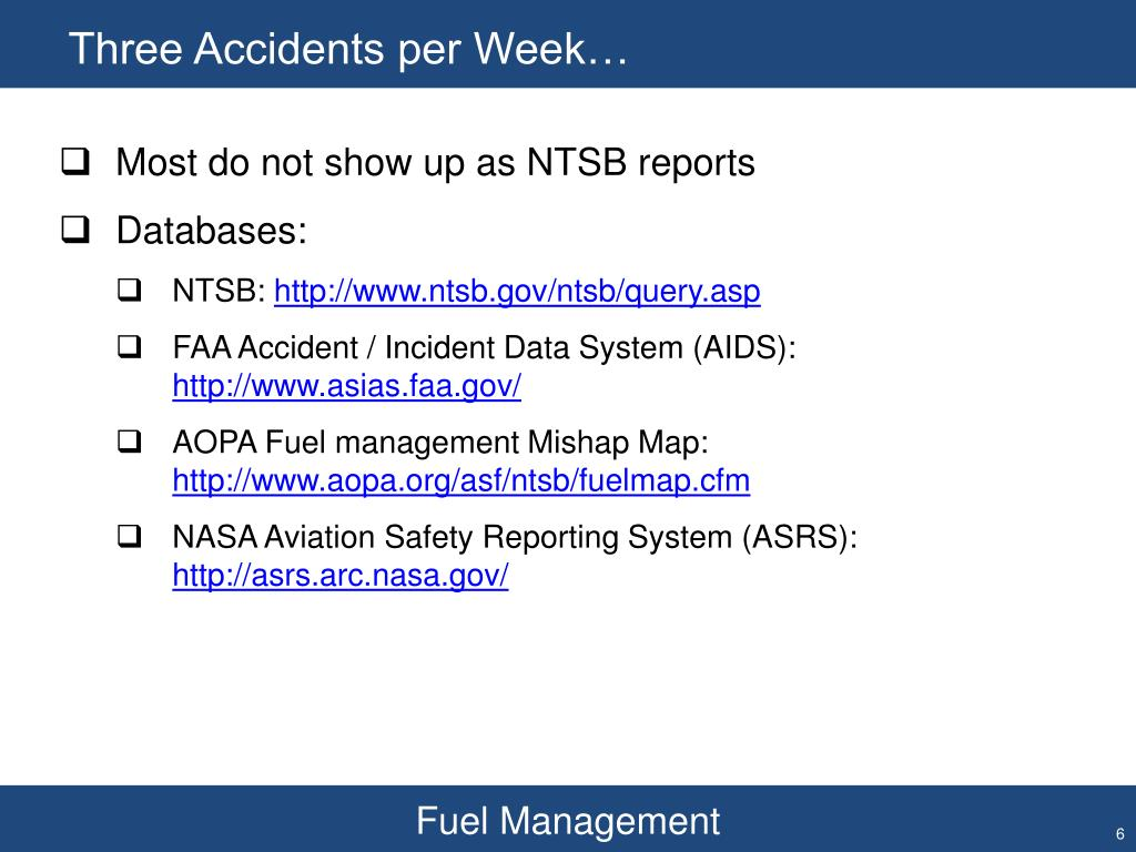 Three Accidents per Week…