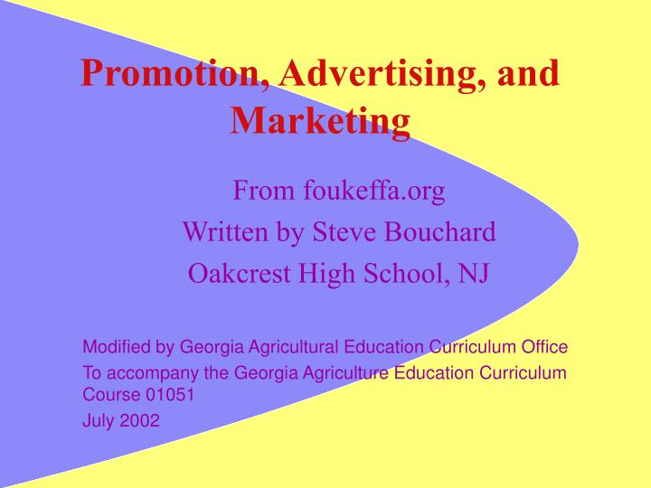 promotion advertising and marketing n.