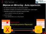 mejoras en mirroring auto reparaci n