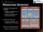 resources governor