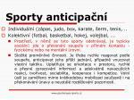 sporty anticipa n