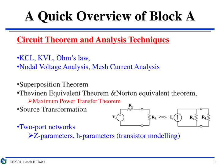 a quick overview of block a n.