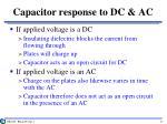 capacitor response to dc ac