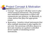 project concept motivation