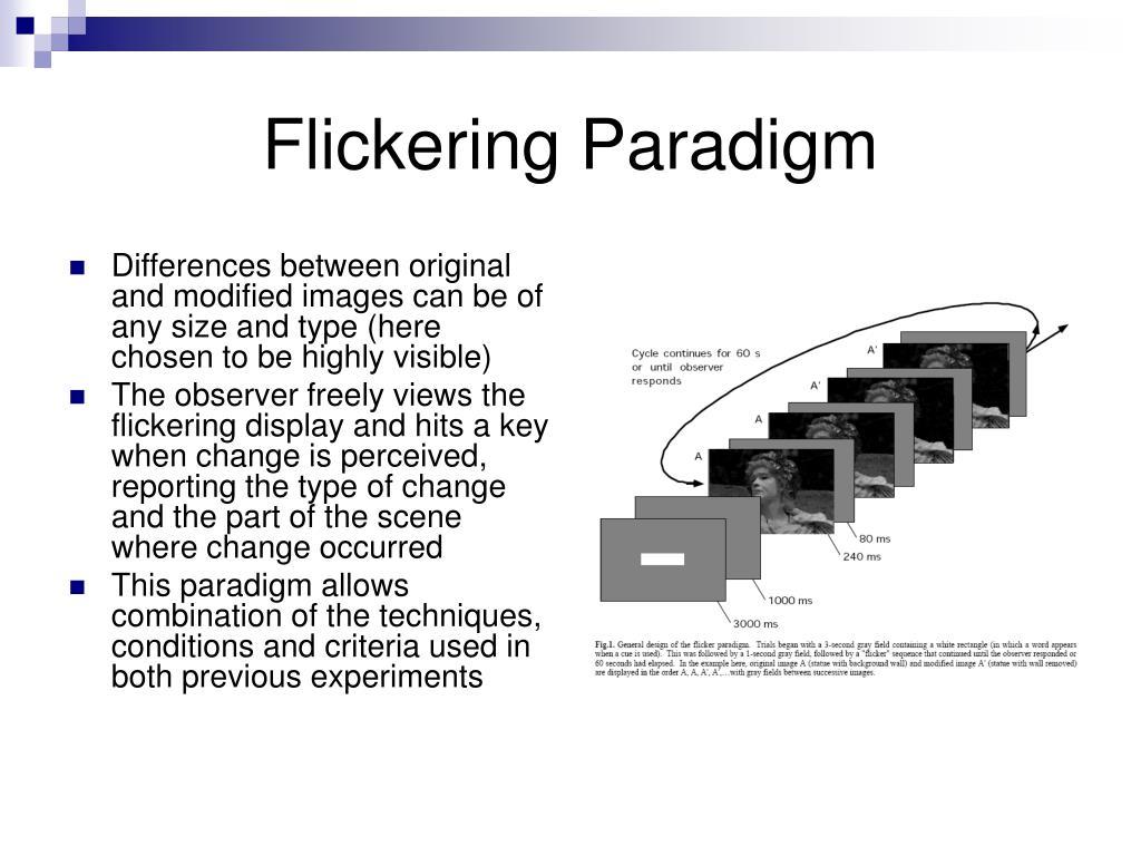 Flickering Paradigm