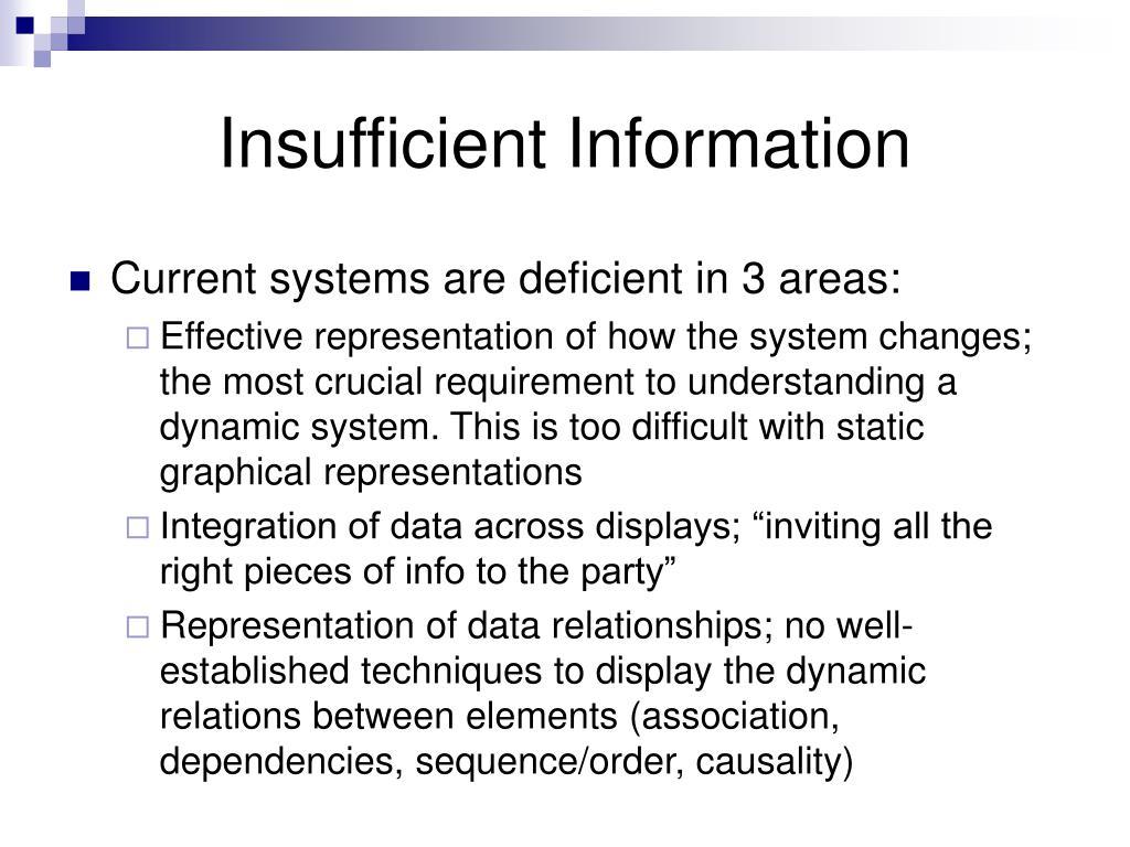 Insufficient Information