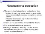 nonattentional perception