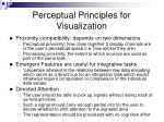 perceptual principles for visualization
