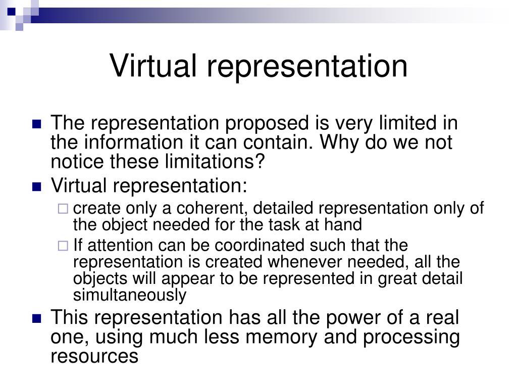 Virtual representation