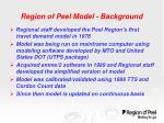 region of peel model background