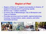 region of peel