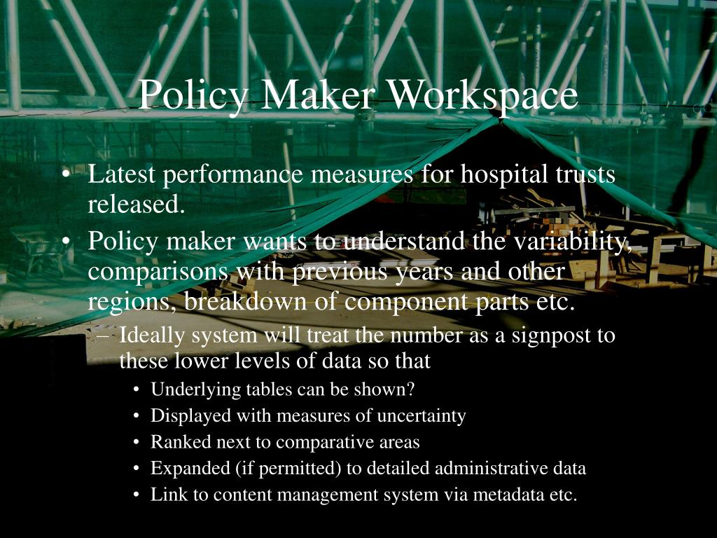 Policy Maker Workspace