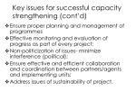 key issues for successful capacity strengthening cont d1