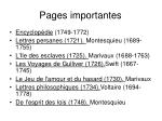 pages importantes