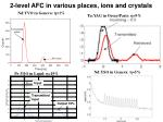 2 level afc in various places ions and crystals