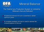 mineral balance
