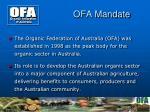 ofa mandate