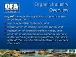 organic industry overview