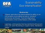 sustainability eco intensification