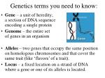 genetics terms you need to know
