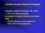 cardiovascular system changes1