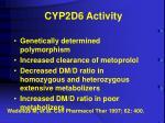 cyp2d6 activity