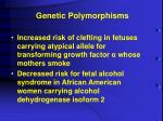 genetic polymorphisms