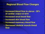 regional blood flow changes