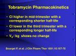 tobramycin pharmacokinetics