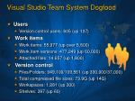 visual studio team system dogfood