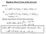random shock form of the forecast